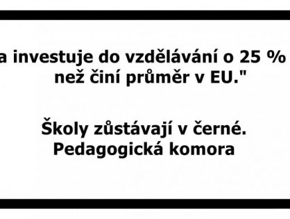 Jiráskovo gymnázium podporuje kampaň Ped. komory Týden škol v černé