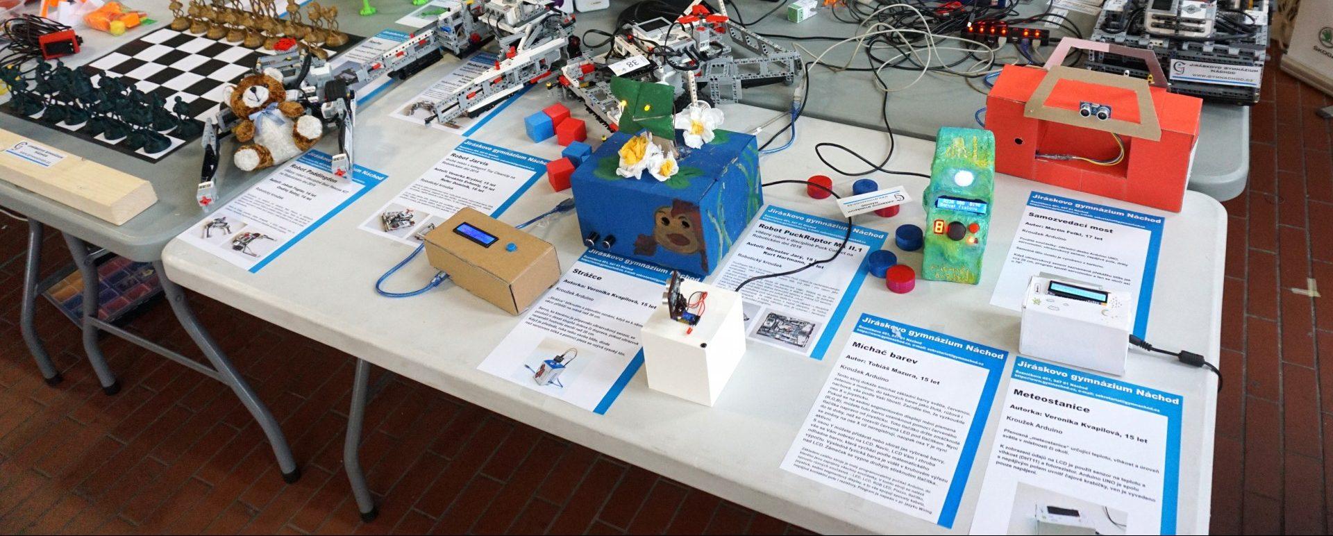Jiráskovo gymnázium na veletrhu Maker Faire 2019 vPraze