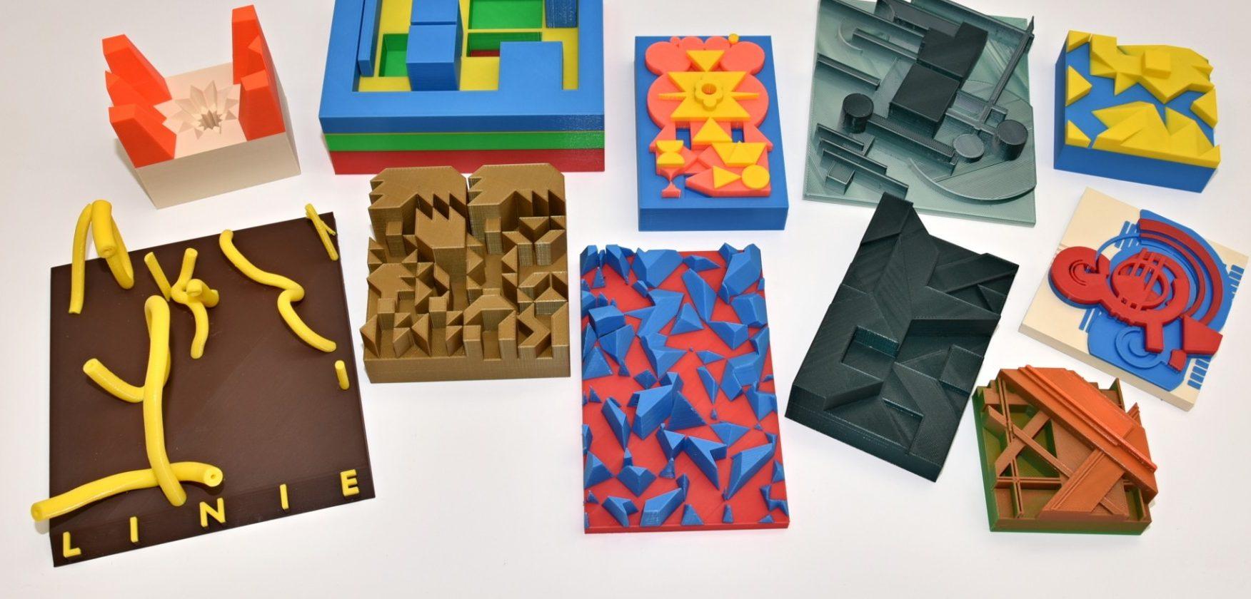 3D tiskárna aabstraktní umění