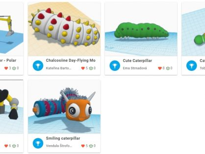 Caterpillar Design Challenge - úspěšná housenka Eduardo