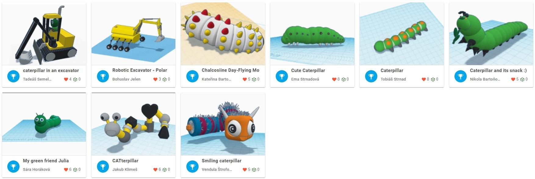 Caterpillar Design Challenge – úspěšná housenka Eduardo